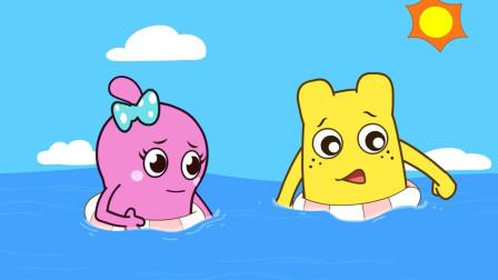 咕力咕力-游泳安全 小朋友游泳要远离深水区要在家人的注视下游泳