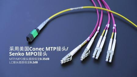 8芯MTP/MP-LC弯曲不敏感单/多模分支光纤跳线是什么?|飞速(FS)