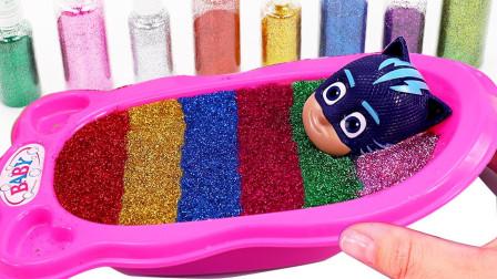 水晶泥混合果冻泥DIY制作史莱姆 奇趣蛋惊喜睡衣小英雄玩具