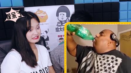 憋笑大挑战:他一次性喝掉一大瓶雪碧,我忍不住笑了!