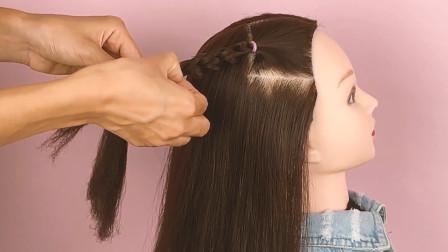 可爱大方的儿童发型,只需2步就搞定,没时间的宝妈快收藏