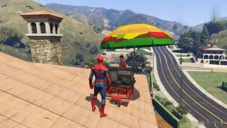 GTA5搞笑时刻:蜘蛛侠真调皮,又出来拉人跳水