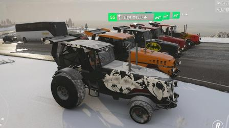 地平线4:五辆拖拉机,挑战财富岛最高山
