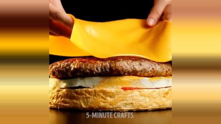 食玩,6个巨型美食创意和烹饪技巧,DIY巨型汉堡当生日蛋糕惊喜吗