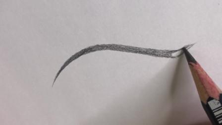 带有小尾巴的美瞳线纸上画法演示,韩式半永久培训教学