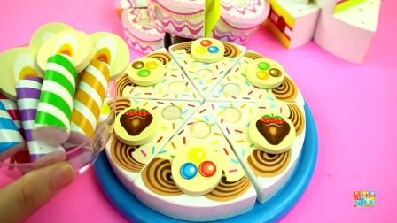 汪汪队立大功草莓奶油生日蛋糕,儿童积木玩具