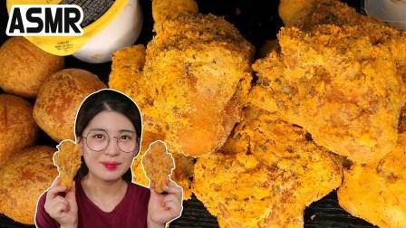 【mukderella】韩国必和必拓鸡奶酪球真正的声音不说话Mukbang(2019年7月31日17时13分)