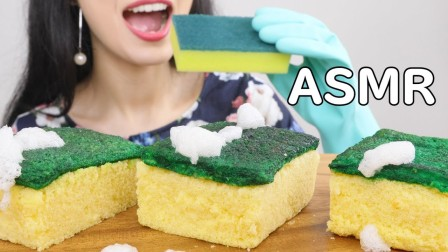 【momo】可食用的菜海绵蛋糕(恶作剧)(吃的声音)不说话的MukbangMomo-日本(2019年8月7日22时53分)