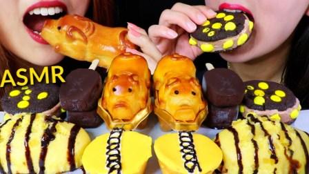 【kim&liz】黑黄食品(小猪月饼、纸杯蛋糕、芒果冰淇淋)Kim&Liz(2019年8月9日22时31分)