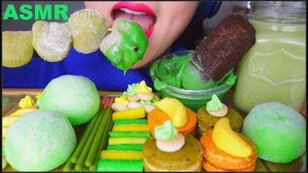 【lychee】绿色摩奇冰淇淋+黄色马卡龙+香蕉+抹茶拿铁+麻袋咖啡(2019年8月15日15时15分)