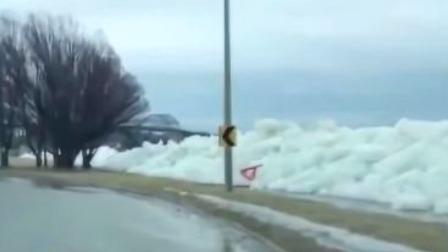 首都晚间报道 2019 加拿大安大略省出现罕见冰壅景观