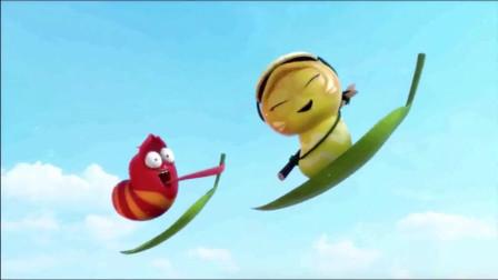 爆笑虫子:红虫和女朋友滑冰,红虫不小心亲了黄虫