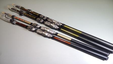 纯碳和包碳的鱼竿,它们之间有什么区别呢?今天算长见识了