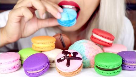 生活漫话 色彩缤纷的马卡龙,各种口味应有尽有,饼干内会有惊喜吗?