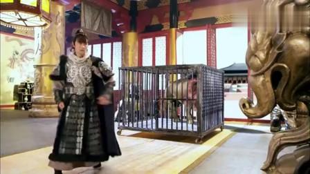 原宁人用大狮子嘲笑大隋朝,裴元庆奉命将其驯服,这下有坐骑了