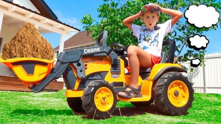 好炫酷!萌宝小正太在网上订购哪辆工程车来运载泥土?趣味玩具故事