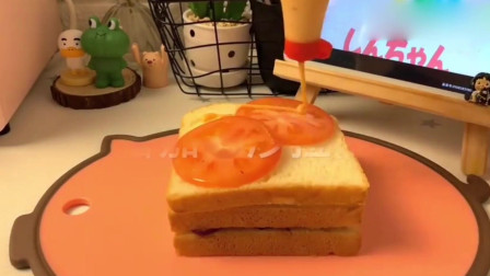 简单早餐三明治,好看又美味,做一个精致的猪猪女孩!