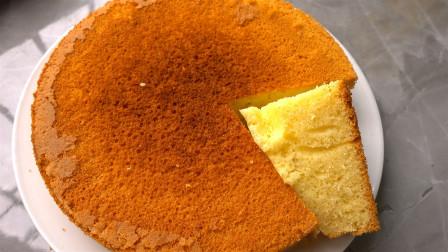 不用烤箱,没有打蛋器也能做蛋糕,颜色金黄和烤出来的一样香
