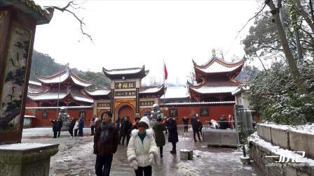 贵州贵阳旅行:遇到下雪天气,赶紧去黔灵山看雪景,真的太美了
