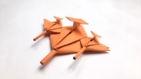 折纸教程:战机模型,这款纸飞机造型绝对彪悍,你还中意吗?