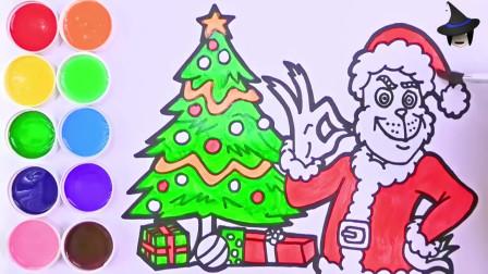 手绘教程-圣诞树和圣诞老人