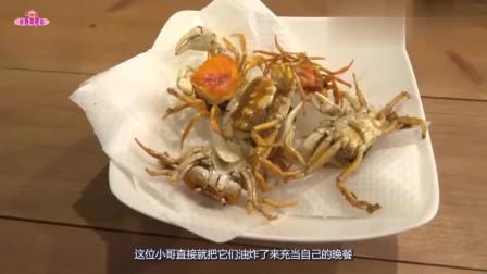 小哥把螃蟹放进猪笼草,拿出来后两败俱伤,东西真不能乱吃