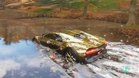 地平线4:把布加迪凯龙开进水里,会发生什么