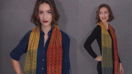 喜欢这款围巾吗?花样简单大方,色彩亮丽,是很美的配饰各种钩织图解视频