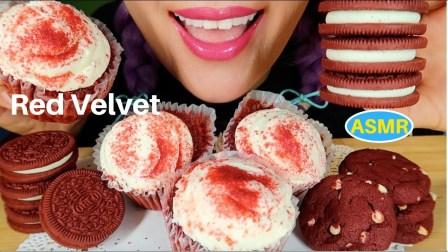 【curie】,红色天鹅绒杯形蛋糕+红色天鹅绒奥利奥美食之声居里。(2019年7月30日10时12分)