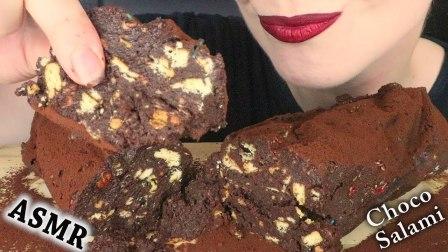 【saltedcaramel】甜点:巧克力沙拉配黄油饼干吃的声音+食谱不说话(2019年7月25日23时13分)