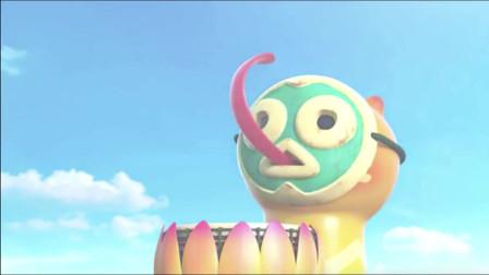 爆笑虫子:黄虫敲小鼓震下地壳上升的地表,灭了火山
