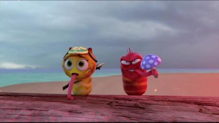 爆笑虫子:沙雕吞下毒蘑菇,瞬间喷气送虫虫上青云