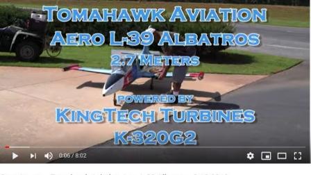 汤姆霍克 L 39 搭配 KingTech K320G 飞行影片