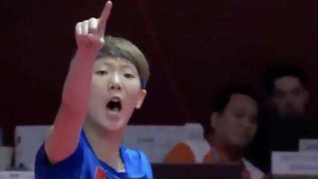 韩乒女神比赛被虐强忍泪水,宅男球迷心疼直言:王曼昱你让她一个