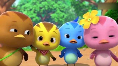 萌鸡小队2:雅雀姐姐给萌鸡们摘梅子,一个梅子就比雅雀姐姐还大