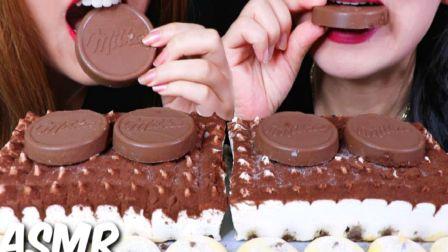 ☆ Kim&Liz ☆ 意式提拉米苏蛋糕、妙卡巧克力涂层威化饼、榛子巧克力注心酥饼曲奇 食音咀嚼音(新)
