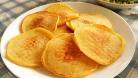 一碗玉米面,加上两个鲜玉米,教你做香甜软糯玉米饼,孩子的最爱