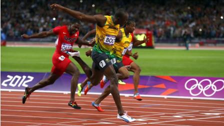 博尔特在伦敦奥运会4x100米决赛的精彩表现!打破赛会记录