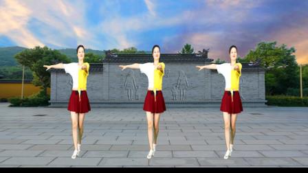 健身广场舞《天边的情哥哥》情侣成双又成对,歌醉人舞好看!