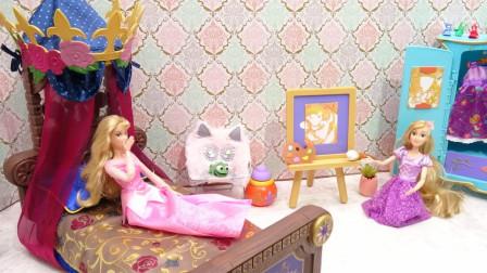 超级棒!迪士尼长发公主究竟在画什么呢?芭比娃娃来干嘛?