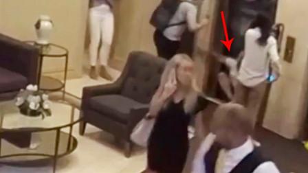 【横版】30岁男子遭电梯挤压致死 目击者不忍直视挡脸跑开