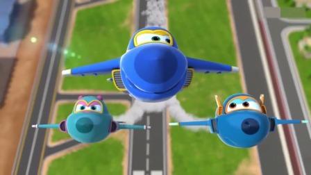 超级飞侠:比赛开始了,酷飞队在空中画出了地图,简直完美!