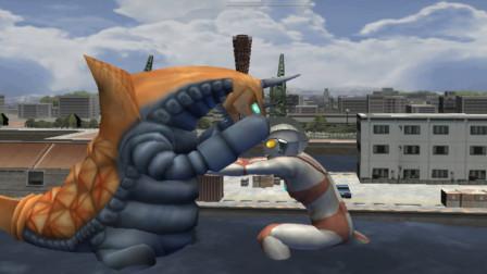 奥特曼格斗进化三:用艾斯挑战五招内击败巴克西姆  带导弹的果然都很厉害