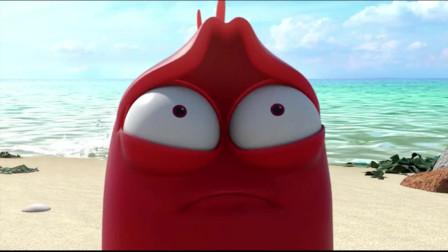 爆笑虫子:黄虫和浪玩嗨了,沙雕被浪伤透