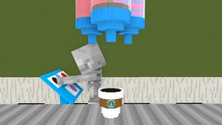 我的世界动画-怪物学院-咖啡店-Kefe Animations