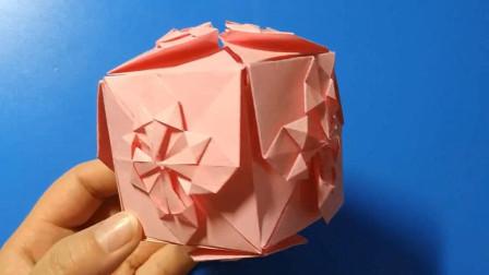 手工折纸:简单漂亮的花球,一起来折吧!