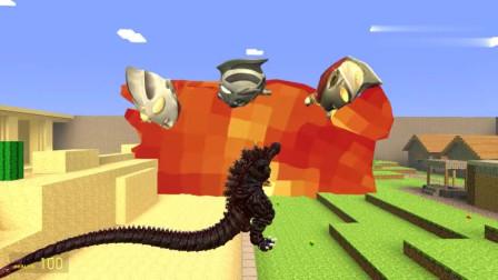 GMOD哥斯拉怪兽救出被火焰山压住的奥特曼奥特曼会怎么感谢怪兽?