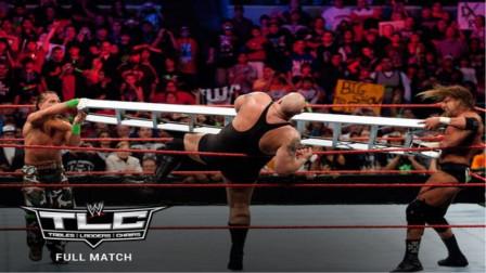 巨兽大秀哥被DX扛铁梯砸出擂台 太过瘾了!