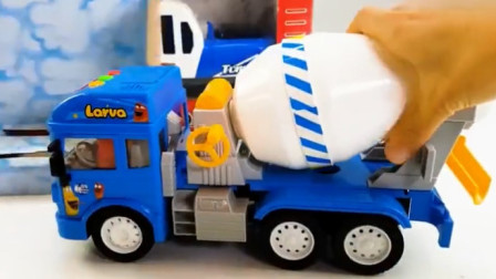 汽车总动员 水泥搅拌车挖掘机翻斗车超级麦大叔工作视频
