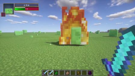 【我的世界】MOD实验室11:火焰附加10000,打一下末影龙真会烧到死?
